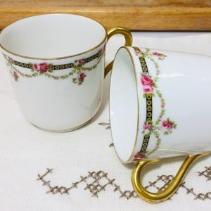 Antique, Limoges France hand painted with gold acc
